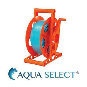 Aqua Select Swimming Pool Backwash Hose Reel & Includes 100' Hose