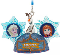 Disney Parks Frozen Ever After Ear Hat Holiday Ornament Epcot Anna Elsa Olaf NEW