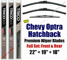 Wipers 3pk Premium Front Rear 2005-07 Chevrolet Optra Hatchback 19220/190/30180
