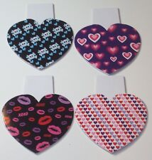 (4) Blank Pads of Sheets, Notes, Paper, Hearts, Kisses, Skulls, Bones, Lips, XOX