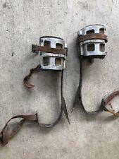 Mallory Vintage Climbing Safety Belt, Rope + Gaffs Spurs Lineman or Logger