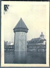 Schweiz, Luzern, Wasserturm  Vintage silver print. Juni-Juli 1905 Tirage argen