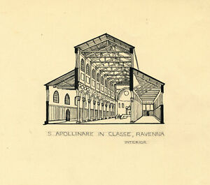 Architectural Section, Sant'Apollinare in Classe, Ravenna – c.1920s drawing
