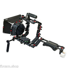 FILMCITY Camera Shoulder Rig +Cage +Mattebox f DSLR BMCC Video FC-02–Best Seller