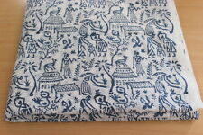 5 Yards People And Animal Print Cotton Fabric Hand Block Print Multi Use KMNH15