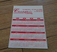 Christopher's Catering Mt. Holly Mount New Jersey calendar  magnet Fridge