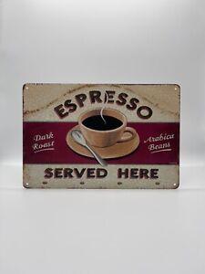Blechschild Espresso 20x30cm Nostalgie Retro Reklame Vintage Deko Kaffee Bar