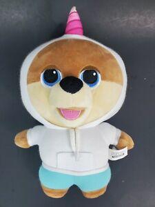 "Jiffpom Cutelife plush Unicorn Hoodie BIG HEAD Teddy Bear 10"""