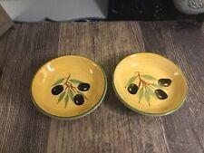 New listing Small Olive Oil Bowls Yellow Ceramic B I A 3 3/4 Diameter Cordon Blue