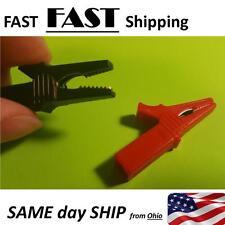 55MM HV Alligator Clip For Banana Plug 4mm Multimeter Pen Cable Probe Red Black