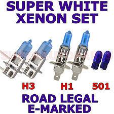 VOLVO V70 familiare HID 2007 + Set di 2 x H1 H3 xeno 501 Super Bianco Lampadine