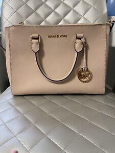Michael Kors Kellen Medium Saffiano STRAP Leather Satchel Bag Blossom Pink