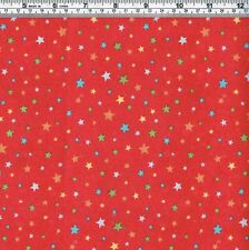 STARS on Red Fabric - FQ