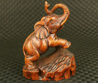 chinese  true to life old boxwood Elephant statue  collectable noble gift