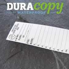 5 x *NEW* GEOLoggers SMALL 3.5cm Geocaching Log Sheet DURACopy WATERPROOF RITR!