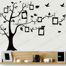 Negro Photo Frame árbol pegatinas de pared Transparente Reutilizables Arte calcomanía Kids Infantiles