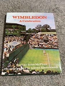 1972 Wimbledon A Celebration Tennis Book Hardcover w/Dust Jacket John McPhee
