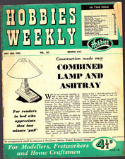 Vintage Hobbies Weekly Magazine,May 1956, 3161, Combined Lamp & Ashtray