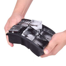 Silikon Eiswürfelbereiter Eiswürfelschale 6 große Würfel  Kanten 4,5x4,5x4,5 cm