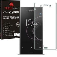 Clear TECHGEAR TEMPERED GLASS FULL Coverage Screen Protector for Sony Xperia XZ1