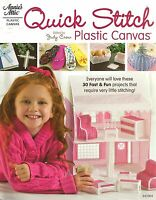 Quick Stitch Plastic Canvas Patterns Doll House Key Chains + Annie's Attic NEW
