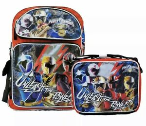"""New Power Ranger:Large 16"""" inches School Backpack& Lunch Box(Brand new)"""