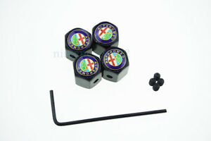 Car Styling Anti-theft Wheel Tire Valve Stems Caps Valve Stems For Alfa Romeo