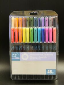 ARTIST'S LOFT 48pc WATERCOLOR DUAL TIP MARKERS  ACADEMIC LEVEL 1 Brand New