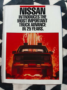 1986 Nissan Hard Body Pickup Trucks 8 Page USA Original Magazine Advertisement