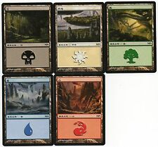 MTG Japanese Non Foil MPS Land Set 2009 Zendikar Series NM