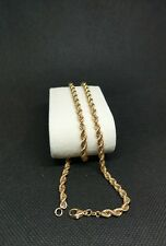 14ct 14carat 585 Yellow Gold Solid Linked Rope Chain 10.5 grams 20''
