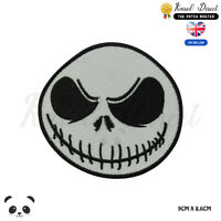 Ball Skull Jack Skull Halloween  Embroidered Iron On Sew On Patch Badge