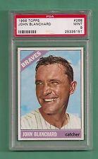 1966 Topps Atlanta Braves John Blanchard # 268 PSA 9 MINT Low Pop Tough Card !!!