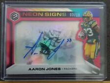 2019 Elements Neon Signs Aaron Jones #3/10 SSP Packers