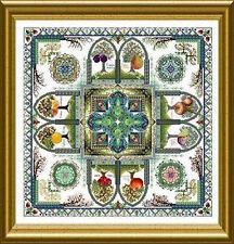 10% Off Chatelaine X-stitch Chart-Pomarium-The Medieval Fruit Garden Mandala