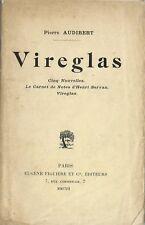 RARE EO 1912 PIERRE AUDIBERT + DÉDICACE + POÈME INÉDIT MANUSCRIT : VIREGLAS