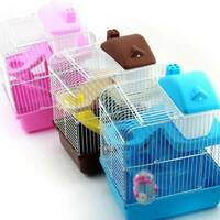 2 Storey Levels Large Hamster Gerbil Mouse Small Pet Cage Transparent Clear