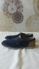 Clarks mens slip on shoes, EHinton asst(W) Hinton Easy , Blue Suede, UK8 EU 42