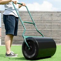 """16"""" x 20"""" Lawn Roller Water or Sand Filled Push Tow Behind Roller Black"""