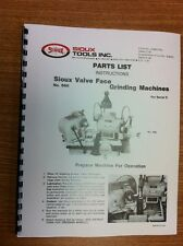 Sioux Model 680 Valve Grinder Instruction and Parts Manual