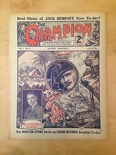 1922 The Champion JACK DEMPSEY Rookie RC Magazine March 25th