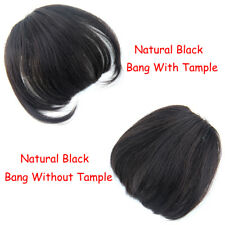 Clip in Front Closure Bangs Fringe Straight 100% Human Hair Extensions Hairpiece