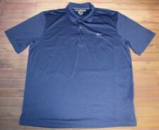 Greg Norman Play Dry Ml75 Short Sleeve Ss Golf Polo Shirt Men Large Blue Solid