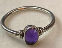 Vintage sterling silver 925 ring size S Marked 925 Perfect For Stacking Ameth