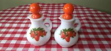 Vintage Avon Strawberry Milk Decanters set Country Kitchen Table