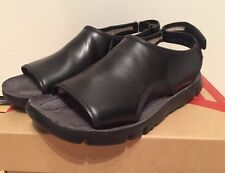 CAMPER ORUGA WOMENS BLACK LEATHER SANDALS SHOES 38 / 8 NEW IN BOX