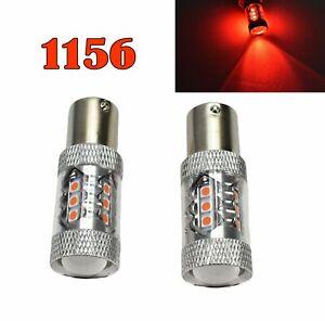 Reverse Backup 1156 BA15S 7506 3497 1141 P21W 80W Red LED Bulb M1 Euro R2