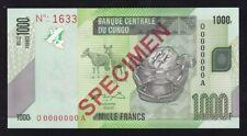 CONGO ------ 1000  FRANCS  2005 ----- SPECIMEN ---- UNC ----