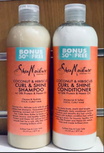 SHEA MOISTURE CURL & SHINE SHAMPOO & CONDITIONER  (BONUS 50% FREE)