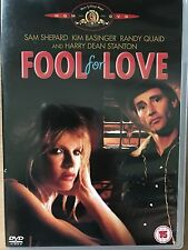Kim Basinger FOOL FOR LOVE ~ 1985 Robert Altman Erotico Drammatico UK DVD